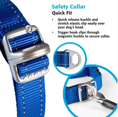 Rogz ошейник Utility с системой безопасности Quick Release Magnetic Collar, цвет розовый (фото, вид 4)