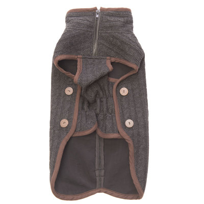 Вязаная нано куртка (свитер) Nano Knit Sweater Dog Gone Smart , цвет серый с коричневым (фото, вид 2)