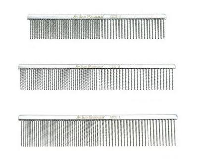 Iv San Bernard METAL COMB Расческа металлическая, комбинированная, размер большой (фото, вид 1)