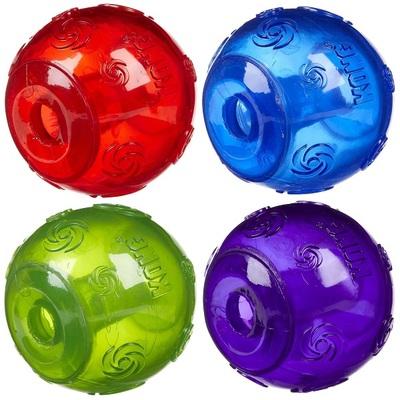 Kong Squeezz Ball Сквиз мячик с пищалкой (фото, вид 1)