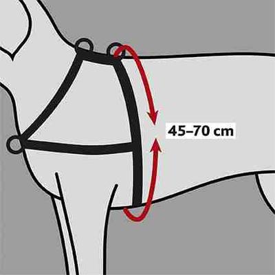 Trixie корректировочная шлейка с кольцом спереди Lead'n'Walk Soft (фото, вид 3)