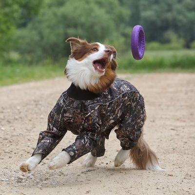 Osso комбинезон для собак утепленный с флисом, для кобелей (цвет хаки) (фото, вид 1)