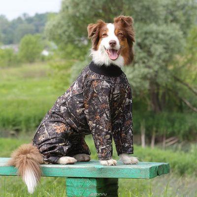 Osso комбинезон для собак утепленный с флисом, для кобелей (цвет хаки) (фото, вид 2)