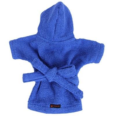 Pretty Pet халат банный махровый для собак, цвет синий (фото, вид 1)