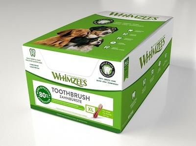 Whimzees Зубная щетка гипоаллергенное лакомство для собак (фото, вид 3)
