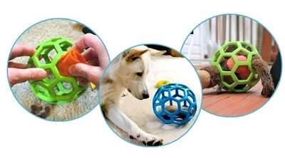 J.W. Hol-ee Roller игрушка для собак Мяч сетчатый, каучук (фото, вид 6)