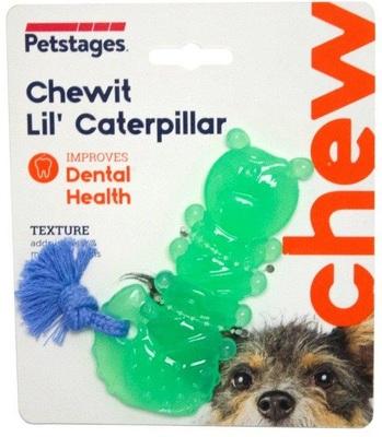 """PetStages игрушка для собак Mini """"ОРКА гусеница"""" 12 см (фото, вид 1)"""
