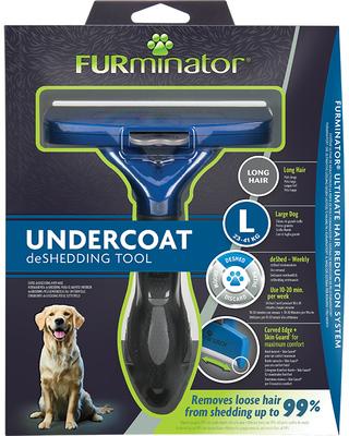 FURminator L Фурминатор для собак крупных пород с длинной шерстью (фото, вид 2)