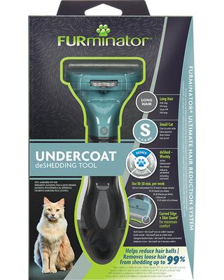 FURminator S Фурминатор для маленьких кошек c длинной шерстью (фото, вид 4)
