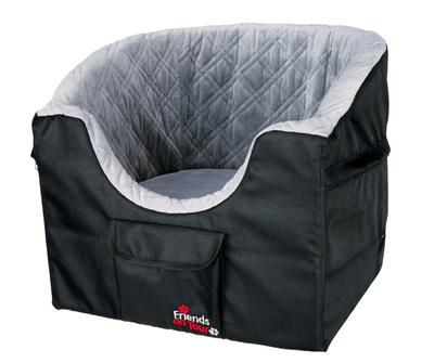 Trixie Автокресло для перевозки собак, 41*39*42 см, цвет серый с черным (фото, вид 1)