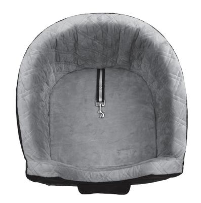 Trixie Автокресло для перевозки собак, 41*39*42 см, цвет серый с черным (фото, вид 2)