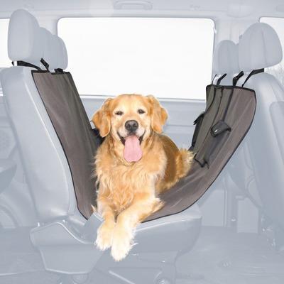 Trixie чехол-гамак для перевозки собак в автомобиле, с кармашками, 140*145 см, цвет коричнево-серый (фото, вид 1)