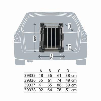 Trixie Транспортный бокс для перевозки собак в автомобиле, алюминиевый каркас с термоподстилкой (фото, вид 1)