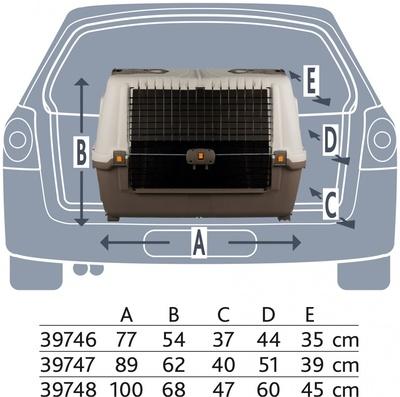 Trixie Skudo Car Транспортный пластиковый бокс для перевозки собак в автомобиле (фото, вид 2)