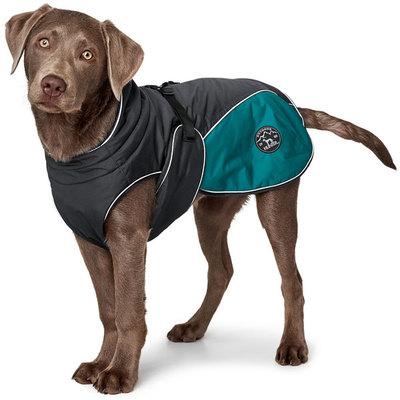 Hunter утепленная куртка для собак Uppsala Cozy, цвет антрацит/бирюзовый (фото, вид 1)