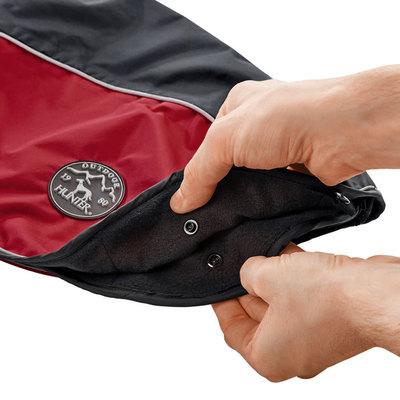 Hunter утепленная куртка со съемной флисовой подкладкой для собак Uppsala Allrounder, цвет антрацит/красный (фото, вид 1)