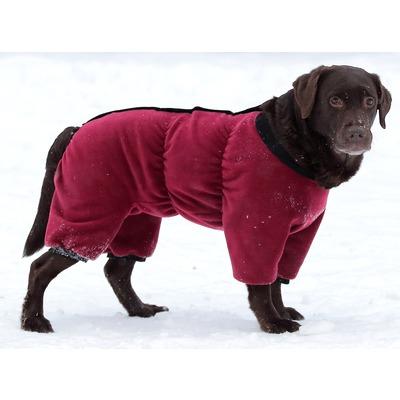 Osso комбинезон для собак из флиса NEW, для сук (цвет красный/бордо), ЗАСТЕЖКА МОЛНИЯ (фото, вид 1)