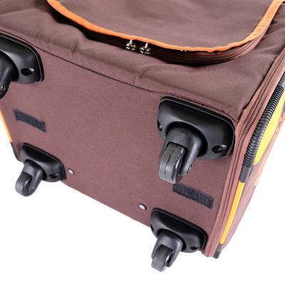 Ibiyaya многофункциональная тележка-трансформер (сумка-тележка-рюкзак) Liso для кошек и собак (Parallel Transport Pet Carrier), коричневая с оранжевым (Ибияйя) (фото, вид 11)