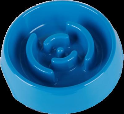 SuperDesign миска меламиновая для медленного питания, 550 мл, синяя (фото, вид 1)