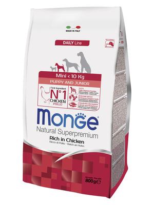 Monge Dog Mini корм для щенков мелких пород (фото, вид 2)