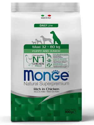 Monge Dog Maxi корм для щенков крупных пород (фото, вид 1)