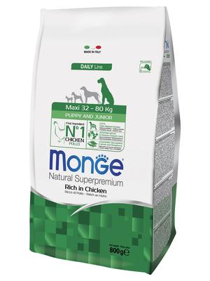 Monge Dog Maxi корм для щенков крупных пород (фото, вид 2)