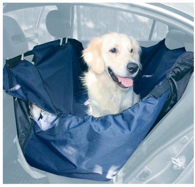 OSSO Car Premium 3 в 1 Автогамак с защитой обивки дверей, для перевозки собак, цвет темно-серый (фото, вид 1)
