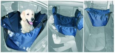 OSSO Car Premium 3 в 1 Автогамак с защитой обивки дверей, для перевозки собак, цвет темно-серый (фото, вид 2)