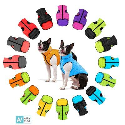 AiryVest куртка двухсторонняя для собак (Collar), цвет салатово-желтый (фото, вид 11)