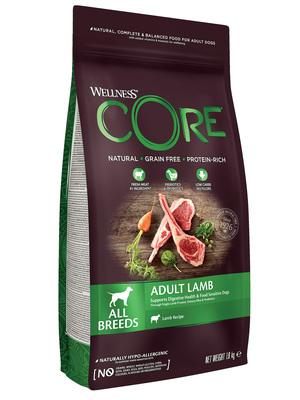 Welness Core сухой корм из ягненка с яблоком для взрослых собак всех пород (фото, вид 2)
