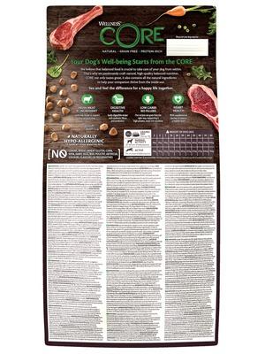 Welness Core сухой корм из ягненка с яблоком для взрослых собак всех пород (фото, вид 3)