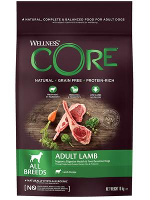 Welness Core сухой корм из ягненка с яблоком для взрослых собак всех пород (фото, вид 5)