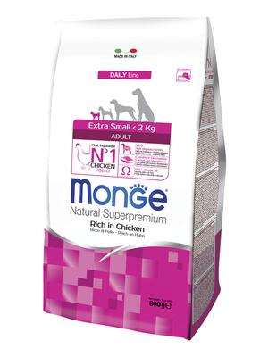 Monge Dog Extra Small корм для взрослых собак миниатюрных пород с курицей (фото, вид 2)