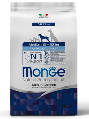 Monge Dog Medium корм для щенков средних пород (фото, вид 1)