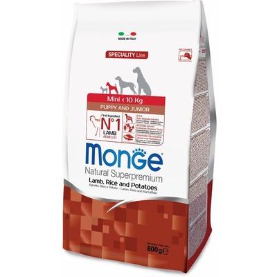 Monge Dog Speciality Mini корм для щенков мелких пород ягненок с рисом и картофелем (фото, вид 1)