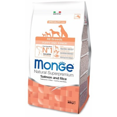 Monge Dog Speciality корм для щенков всех пород лосось с рисом (фото, вид 1)