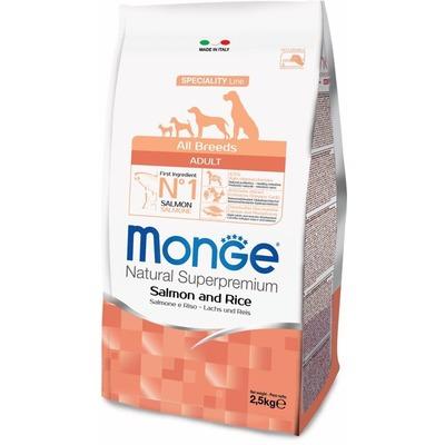Monge Dog Speciality корм для собак всех пород лосось с рисом (фото, вид 1)