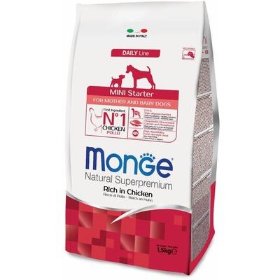 Monge Dog Mini Starter корм для щенков мелких пород 1,5 кг (фото, вид 1)