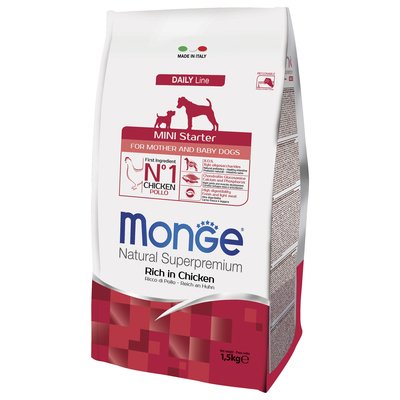 Monge Dog Mini Starter корм для щенков мелких пород 1,5 кг (фото, вид 2)