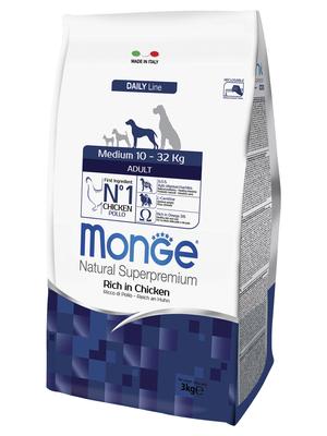 Monge Dog Medium корм для взрослых собак средних пород (фото, вид 2)