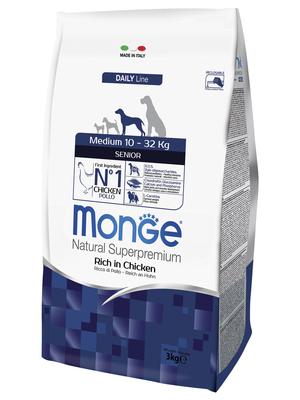 Monge Dog Medium корм для пожилых собак средних пород (фото, вид 2)