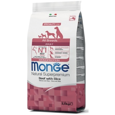 Monge Dog Speciality корм для собак всех пород говядина с рисом Dog All Breeds Beef and Rice (фото, вид 1)