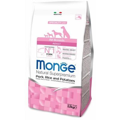 Monge Dog Speciality корм для собак всех пород свинина с рисом и картофелем (фото, вид 1)