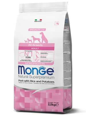 Monge Dog Speciality корм для собак всех пород свинина с рисом и картофелем (фото, вид 2)
