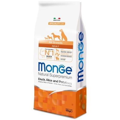 Monge Dog Speciality корм для собак всех пород утка с рисом и картофелем (фото, вид 1)