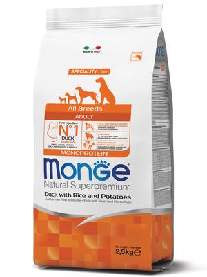 Monge Dog Speciality корм для собак всех пород утка с рисом и картофелем (фото, вид 2)