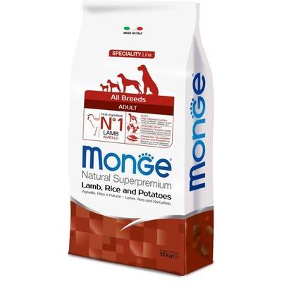 Monge Dog Speciality корм для собак всех пород ягненок с рисом и картофелем (фото, вид 1)