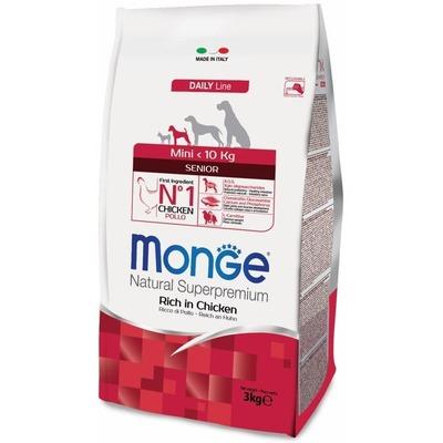 Monge Dog Mini корм для пожилых собак мелких пород с курицей и рисом, упаковка 3 кг (фото, вид 1)