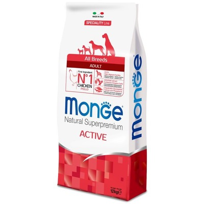 Monge Dog Speciality Active корм для активных собак с курицей и рисом, 12 кг (фото, вид 1)
