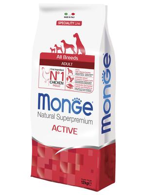 Monge Dog Speciality Active корм для активных собак с курицей и рисом, 12 кг (фото, вид 2)